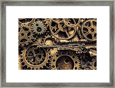 Miniature Awm Bolt-action Sniper Rifle  Framed Print