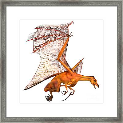 Miniature Golden Dragon Framed Print by Corey Ford