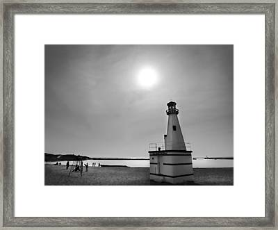 Miniature Lighthouse Framed Print