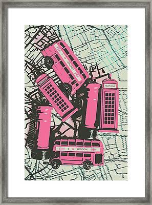 Miniature London Town Framed Print