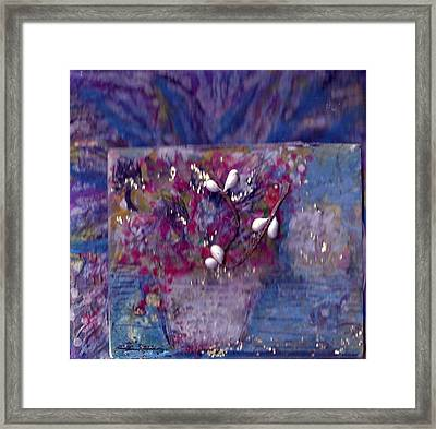 Miniature Moment Flowers Framed Print by Anne-Elizabeth Whiteway