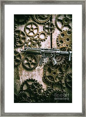 Miniature Mp5 Submachine Gun Framed Print by Jorgo Photography - Wall Art Gallery