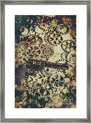 Miniature Old Western Pistol Framed Print by Jorgo Photography - Wall Art Gallery