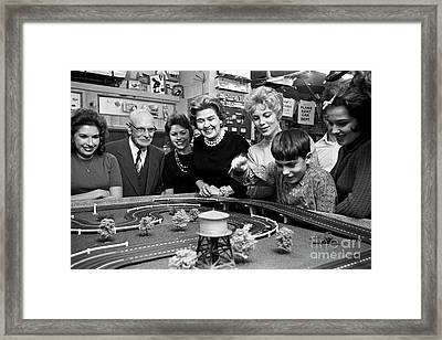 Miniature Racing Cars At A Hobby Shop Run By Rich Palmer In 1962 Framed Print by The Harrington Collection