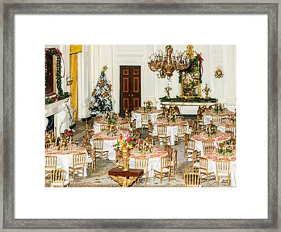 Miniature State Dining Room Of The White House  Framed Print by Art Spectrum