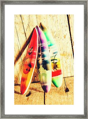 Miniature Surfboard Decorations Framed Print by Jorgo Photography - Wall Art Gallery