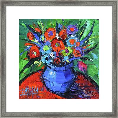Minifloral Framed Print by Mona Edulesco