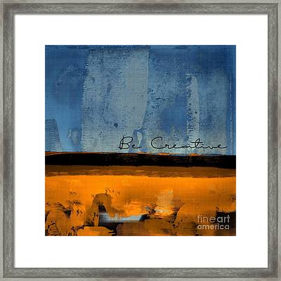 Minima - Be Creative 01b- Bo Framed Print by Variance Collections