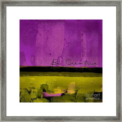 Minima - Be Creative Bc1b-pgv3 Framed Print by Variance Collections