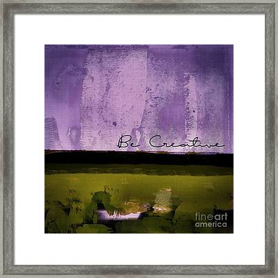 Minima - Be Creative - Bc1pgv3 Framed Print by Variance Collections