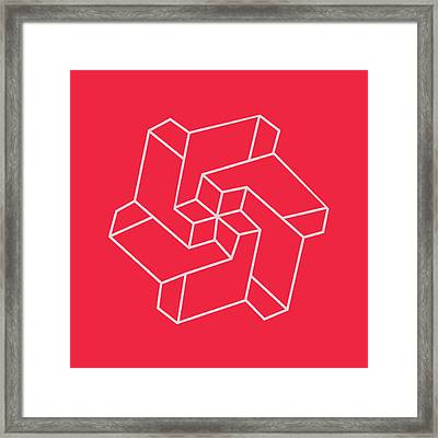 Minimal    Chakra Symbol Art Optical Illusion Star Framed Print