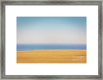Minimal Lake Ontario Framed Print