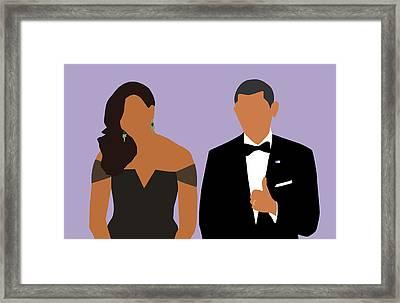 Minimal Obamas Framed Print by Karissa Tolliver