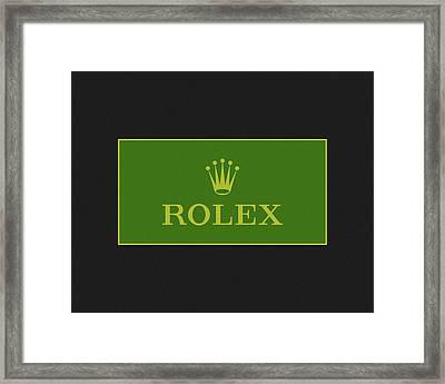 Minimal Rolex Logo Framed Print