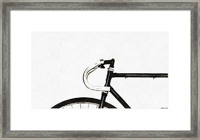 Minimalist Bicycle Painting Framed Print by Edward Fielding