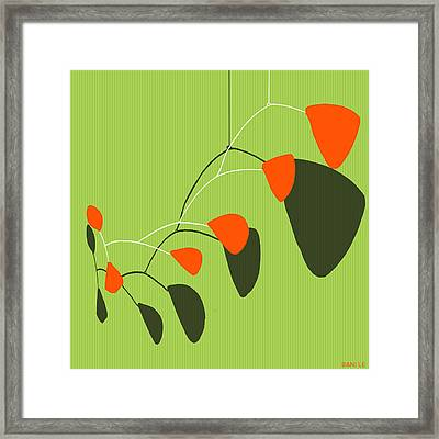 Minimalist Modern Mobile Framed Print by Little Bunny Sunshine