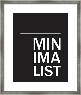 Minimalist Poster Framed Print