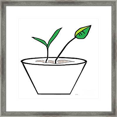 Minimalist Pot Plant Framed Print