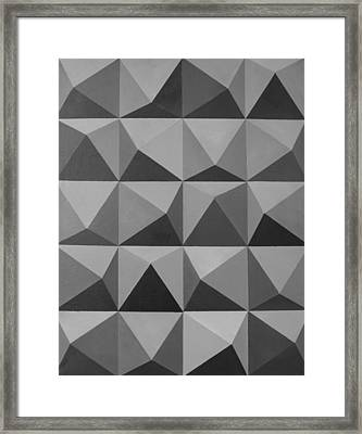 Minimalist Wall Decor Black And White Framed Print by Magdalena Walulik