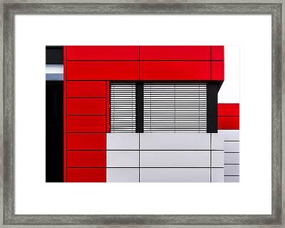 Minimalistic Facade Framed Print by Stefan Krebs