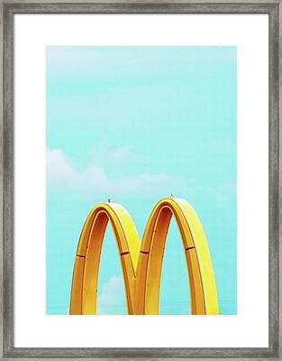 Minimalistic Mcdonald's Framed Print by Dylan Murphy