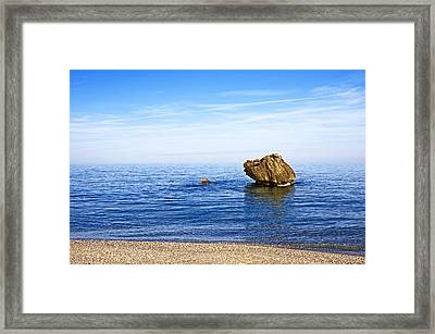 Minimalistic Seascape Framed Print by Claudia Holzfoerster