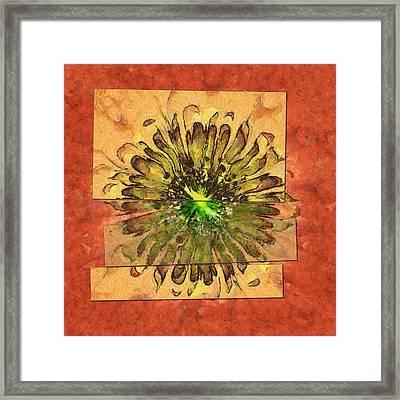 Minimaxes Fabric Flower  Id 16164-054727-17021 Framed Print