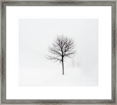 Minimum Visibility Framed Print
