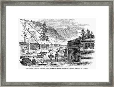 Mining Camp, 1860 Framed Print by Granger