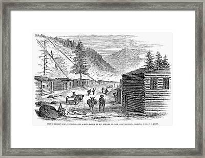 Mining Camp, 1860 Framed Print by Granger