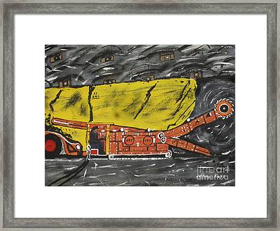 Coal Mining  Framed Print by Jeffrey Koss