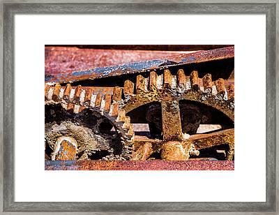 Mining Gears Framed Print by Onyonet  Photo Studios