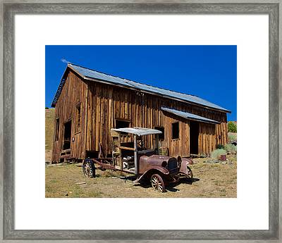 Framed Print featuring the photograph Mining Relic by Todd Kreuter