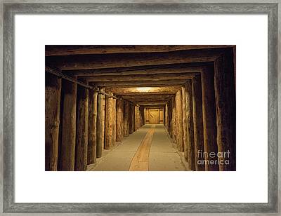 Framed Print featuring the photograph Mining Tunnel by Juli Scalzi
