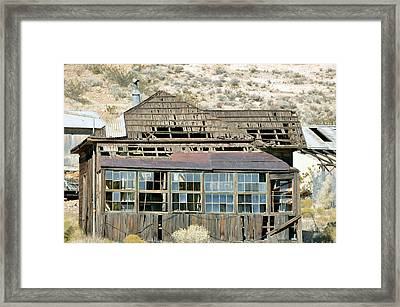 Mining Twon Framed Print by Larry Holt