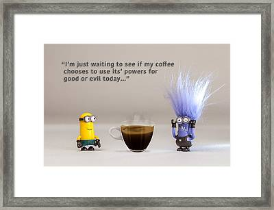 Minion Quote 16 Framed Print