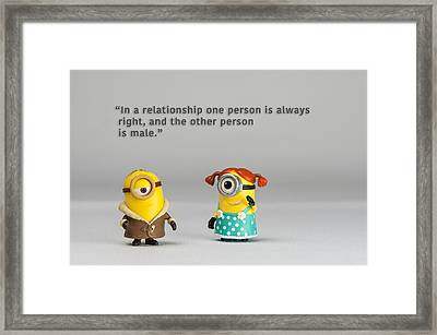 Minion Quote 17 Framed Print