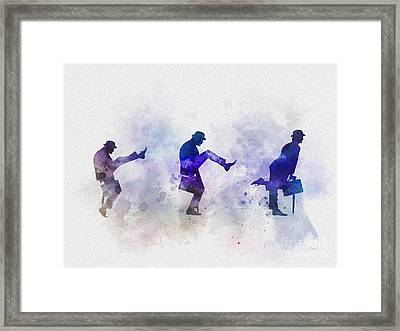 Ministry Of Silly Walks Framed Print by Rebecca Jenkins