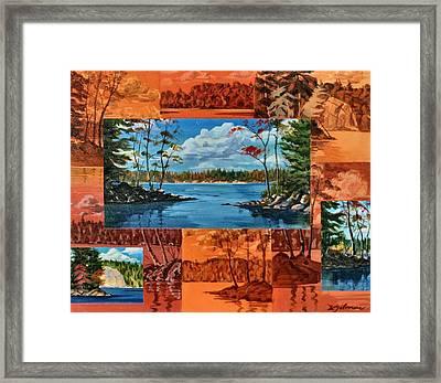 Mink Lake Looking North West Framed Print