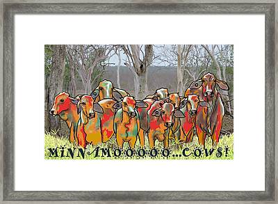 Minnamooooo...cows Framed Print
