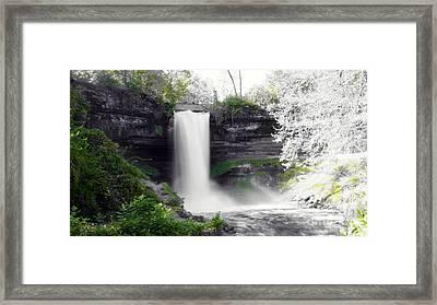 Minne Haha Falls Framed Print