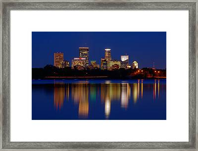 Minneapolis At Night Framed Print
