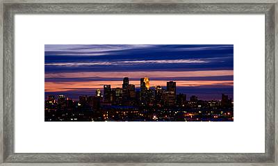 Minneapolis At Sundown Framed Print