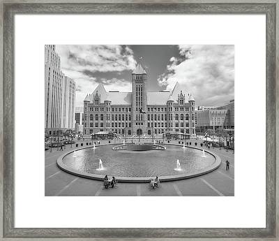 Minneapolis City Hall From Hennepin County Government Center Framed Print