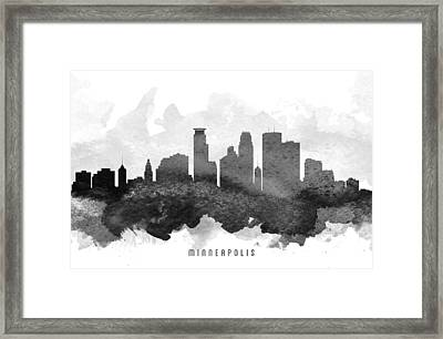 Minneapolis Cityscape 11 Framed Print by Aged Pixel
