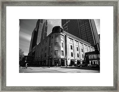 Framed Print featuring the photograph Minneapolis Downtown Bw by Frank Romeo