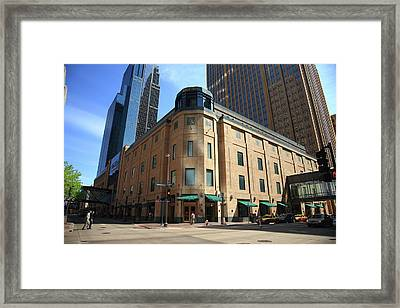 Framed Print featuring the photograph Minneapolis Downtown by Frank Romeo