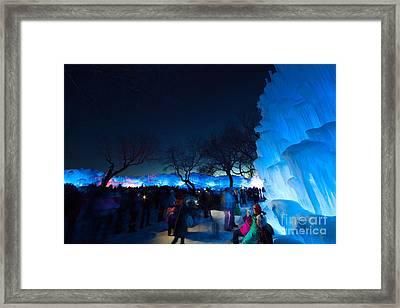 Minneapolis Ice Castles I Framed Print