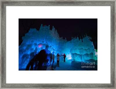 Eden Prairie Ice Castles Framed Print