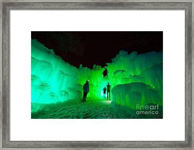 Ice Castles Of Minnesota Framed Print